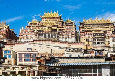 Songzanlin Temple Or The Ganden Sumtseling Monastery Also Known As Little Potala Palace In Lhasa, Is