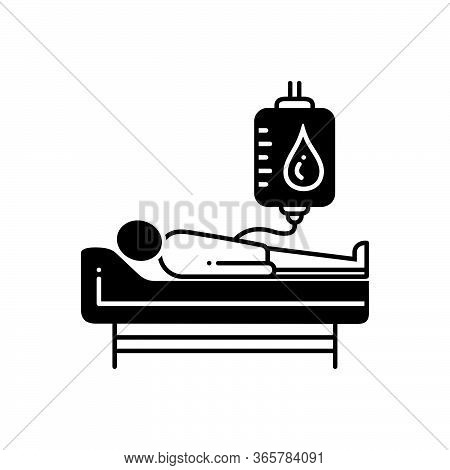 Black Solid Icon For Blood-donation  Blood-donor Blood-bag  Give-blood Person