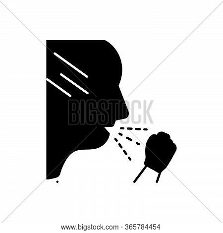 Black Solid Icon For Cough  Infection  Virus Epidemiology Allergy