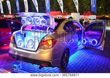 Pasay, Ph - Dec 8 - Mitsubishi Mirage G4 Sound System At Bumper To Bumper Car Show On December 8, 20