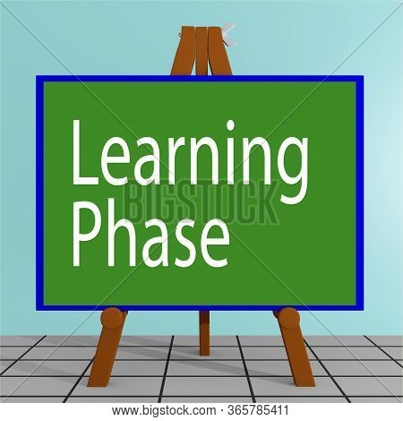 3d Illustration Of Learning Phase Title On A Tripod Display Board