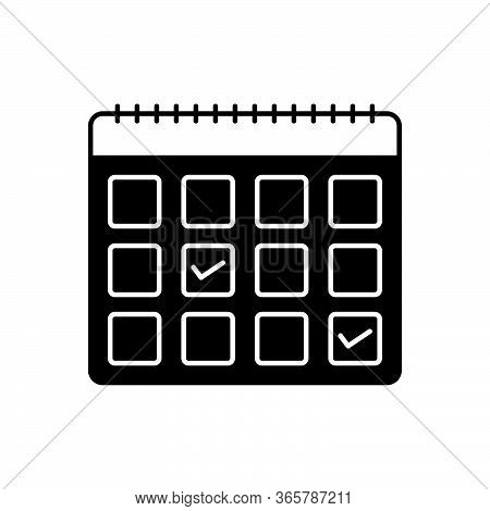 Black Solid Icon For Appointment-request Appointment Request Calendar