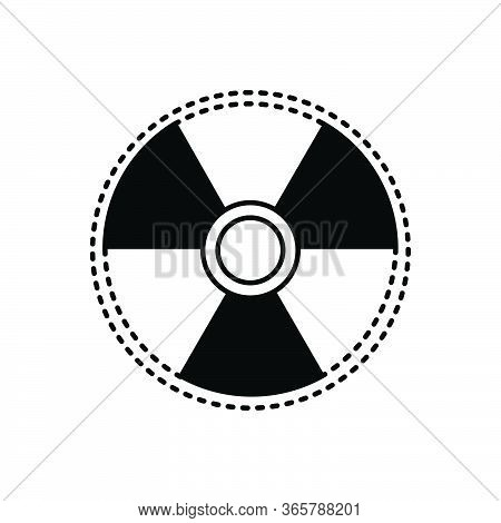 Black Solid Icon For Radiation-sign Radiation Sign Eradiation Therapy