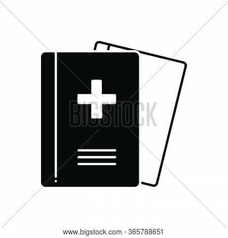 Black Solid Icon For Medical-journals Medical Journals Presentation Magazine
