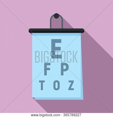 Eye Examination Banner Icon. Flat Illustration Of Eye Examination Banner Vector Icon For Web Design