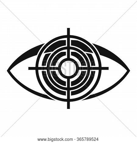 Target Eye Examination Icon. Simple Illustration Of Target Eye Examination Vector Icon For Web Desig