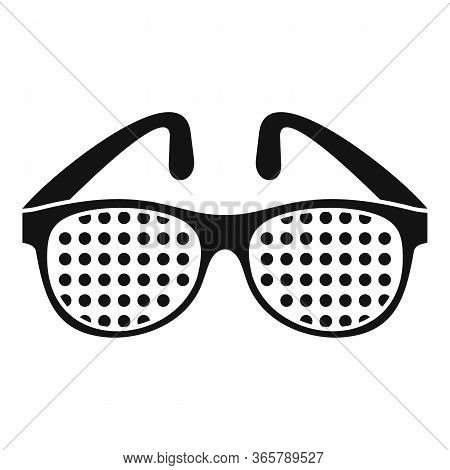 Examination Control Eyeglasses Icon. Simple Illustration Of Examination Control Eyeglasses Vector Ic
