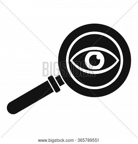 Eye Examination Magnifier Icon. Simple Illustration Of Eye Examination Magnifier Vector Icon For Web