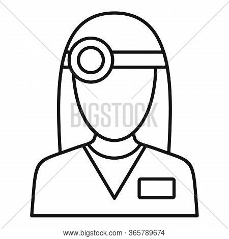Eye Examination Doctor Icon. Outline Eye Examination Doctor Vector Icon For Web Design Isolated On W