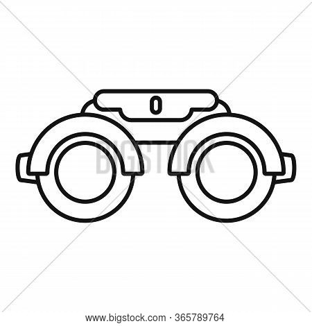 Eye Examination Steel Glasses Icon. Outline Eye Examination Steel Glasses Vector Icon For Web Design