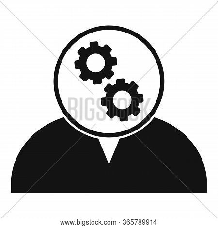 Gear Head Advice Icon. Simple Illustration Of Gear Head Advice Vector Icon For Web Design Isolated O