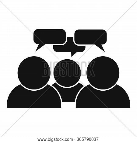 Teamwork Conversation Icon. Simple Illustration Of Teamwork Conversation Vector Icon For Web Design