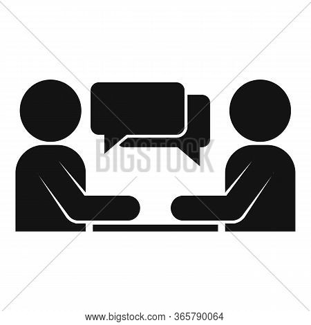 Expertise Chat Icon. Simple Illustration Of Expertise Chat Vector Icon For Web Design Isolated On Wh