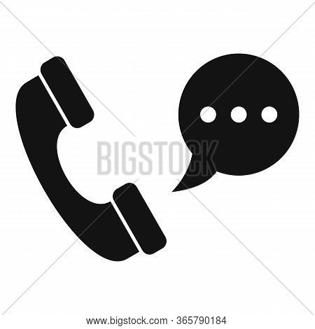 Call Center Help Icon. Simple Illustration Of Call Center Help Vector Icon For Web Design Isolated O