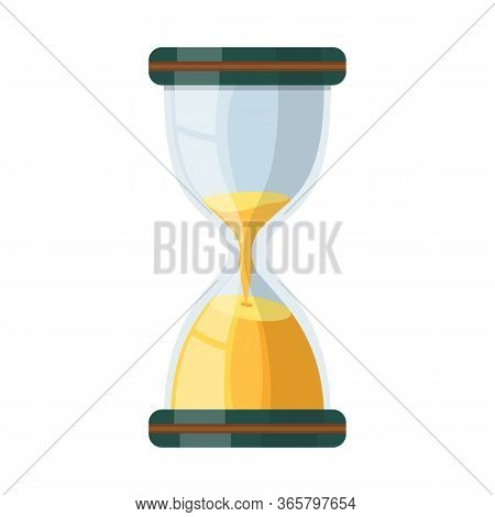 Isolated Object Of Sandglass And Timer Logo. Web Element Of Sandglass And Minute Vector Icon For Sto