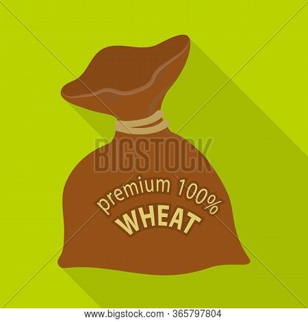 Vector Illustration Of Flour And Bag Symbol. Set Of Flour And Sack Stock Symbol For Web.