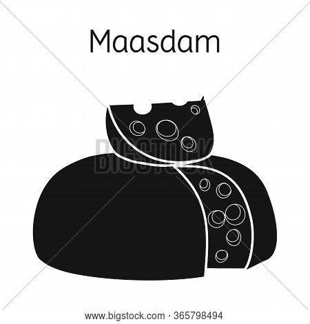 Vector Illustration Of Cheese And Maasdam Icon. Web Element Of Cheese And Piece Vector Icon For Stoc