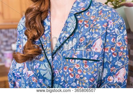 Warm Kit Homewear. Soft Cotton Cardigan. Comfortable Clothes For Healthy Sleep. Pajamas Concept. Clo