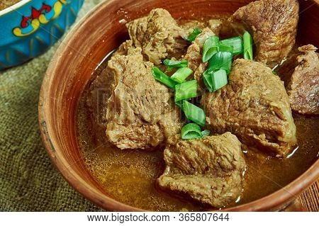 Siga Wot  - Spiced Beef Stew, Ethiopian And Eritrean Stew Or Curry