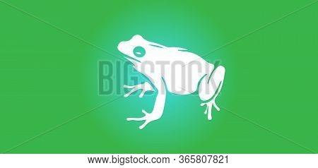 Little Frog Silhouette Illustration Vector , Wild, Wildlife, Zoo, Zoology