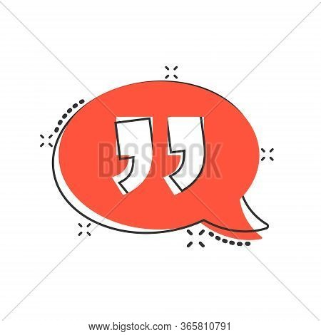 Speak Chat Icon In Comic Style. Speech Bubble Cartoon Vector Illustration On White Isolated Backgrou