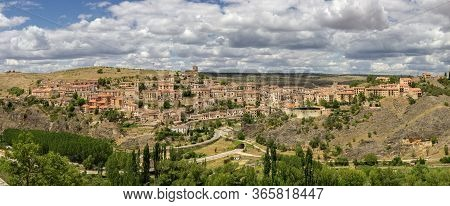 Beautiful View Of Village Sepulveda In Spain