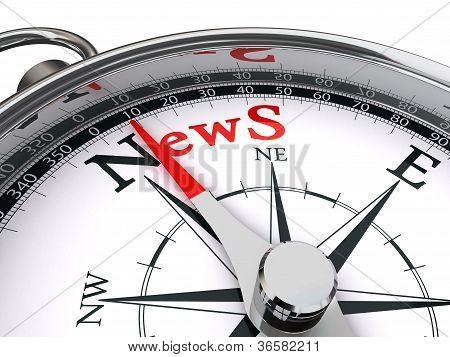 News Concept Compass
