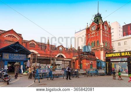 Kolkata, West Bengal, India - 29th December 2019 : Sir Stuart Hogg Market Or Hogg Market Or Hogg Sha