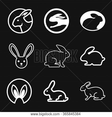 Rabbit Icon Vector, Design On Background, Rabbit Logo For Your Design. Animal.