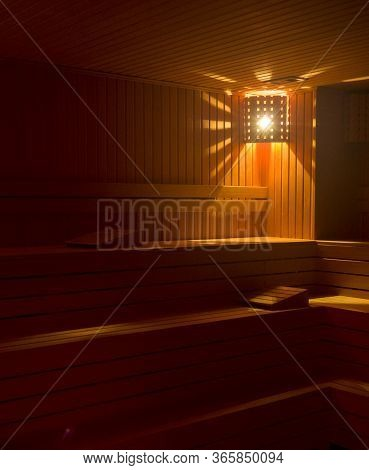 Hot Sauna Room For Relax And Health