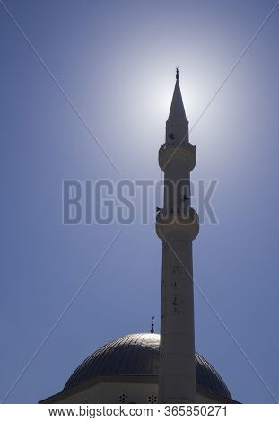 Islam Mosk Silhuette In Sun - The Main Religion In Turkey