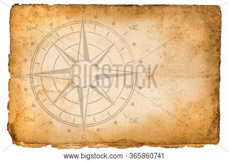 Old  Vintage  Parchment With A Compass Rose