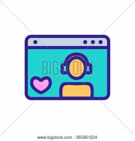 Gamer Favorite Folder Icon Vector. Gamer Favorite Folder Sign. Color Symbol Illustration
