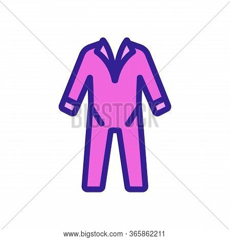 Work Protective Clothing With Sleeves Icon Vector. Work Protective Clothing With Sleeves Sign. Color