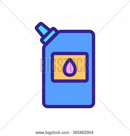 Packaged Lubricant Icon Vector. Packaged Lubricant Sign. Color Symbol Illustration