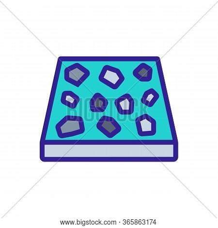 Four Pieces Of Spot Tiles Icon Vector. Four Pieces Of Spot Tiles Sign. Color Symbol Illustration