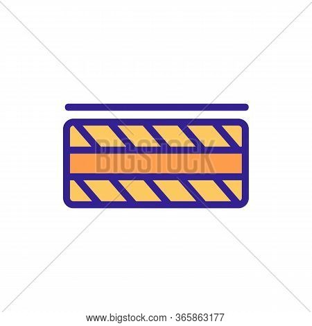 Piece Of Tile With Pattern Icon Vector. Piece Of Tile With Pattern Sign. Color Symbol Illustration