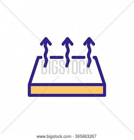 Floor Material Diagonal Pattern Icon Vector. Floor Material Diagonal Pattern Sign. Color Symbol Illu