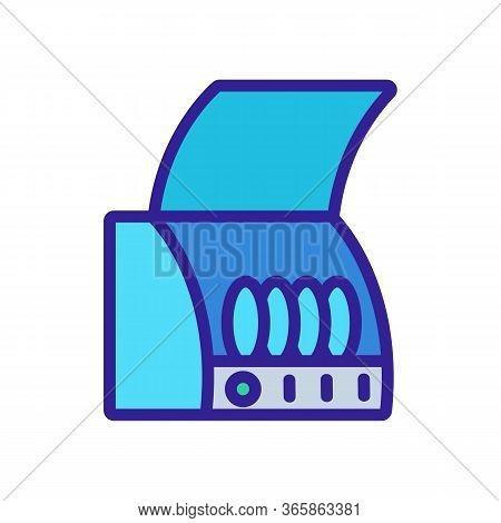 Draining Board Icon Vector. Draining Board Sign. Color Symbol Illustration
