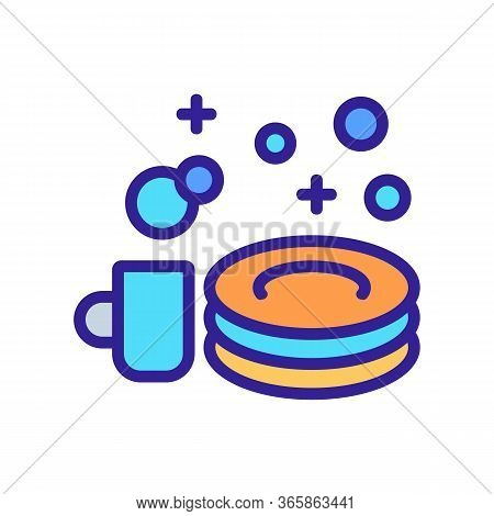 Shine Of Washed Dishes Icon Vector. Shine Of Washed Dishes Sign. Color Symbol Illustration