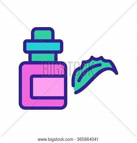 Aloe Vera Elixir Icon Vector. Aloe Vera Elixir Sign. Color Symbol Illustration