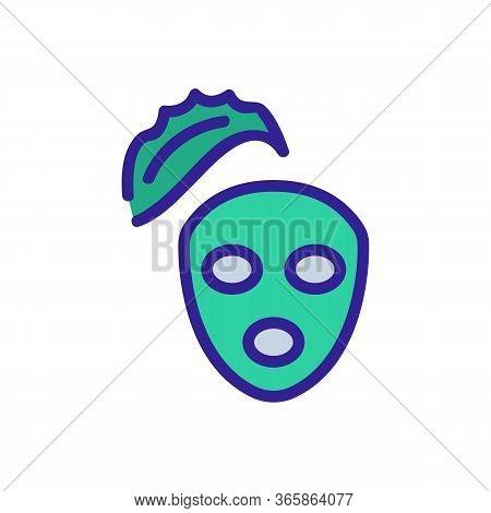 Aloe Vera Nourishing Face Mask Icon Vector. Aloe Vera Nourishing Face Mask Sign. Color Symbol Illust