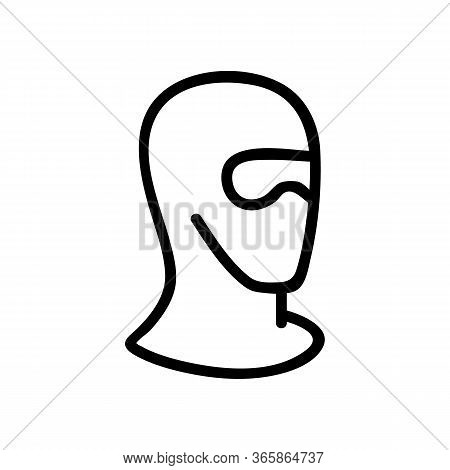 Safety Ski Goggles Mask Icon Vector. Safety Ski Goggles Mask Sign. Isolated Contour Symbol Illustrat