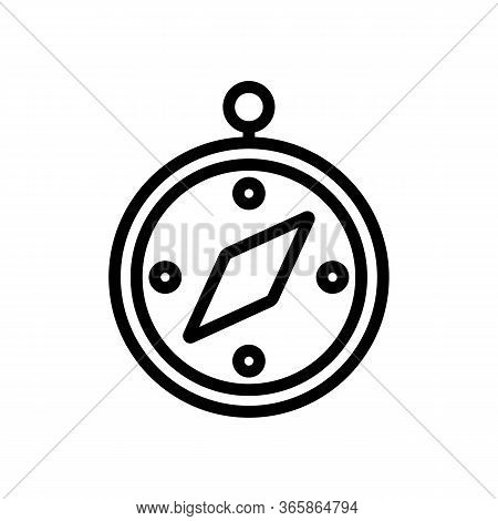 Compass To Determine Path Icon Vector. Compass To Determine Path Sign. Isolated Contour Symbol Illus