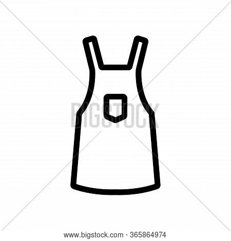 Protective Work Apron Icon Vector. Protective Work Apron Sign. Isolated Contour Symbol Illustration