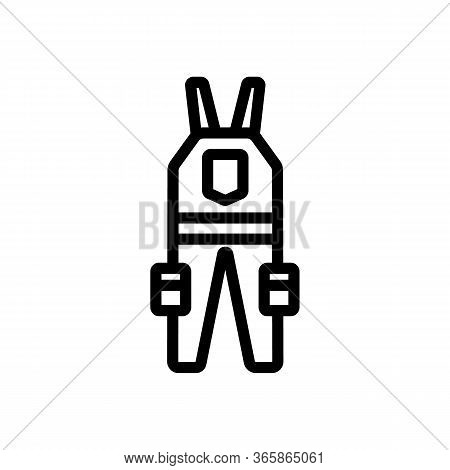 Jumpsuit Worker With Many Pockets Icon Vector. Jumpsuit Worker With Many Pockets Sign. Isolated Cont