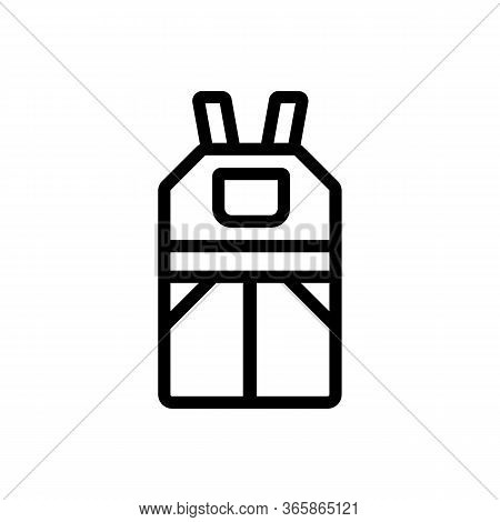 Industrial Overalls Icon Vector. Industrial Overalls Sign. Isolated Contour Symbol Illustration