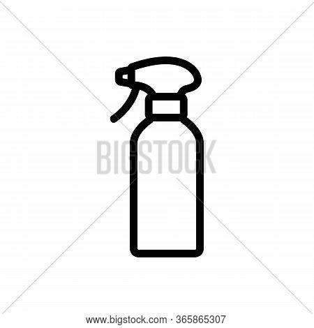 Spray Atomizer Icon Vector. Spray Atomizer Sign. Isolated Contour Symbol Illustration