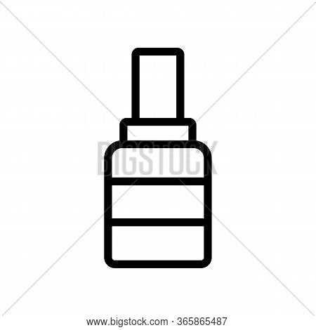 Striped Grease Bottle Icon Vector. Striped Grease Bottle Sign. Isolated Contour Symbol Illustration