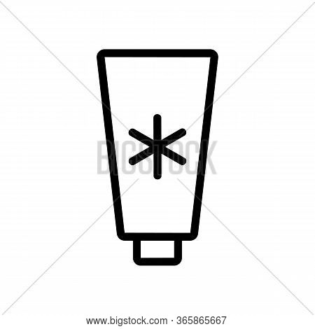 Lubricant With Cooling Effect Icon Vector Outline Illustration